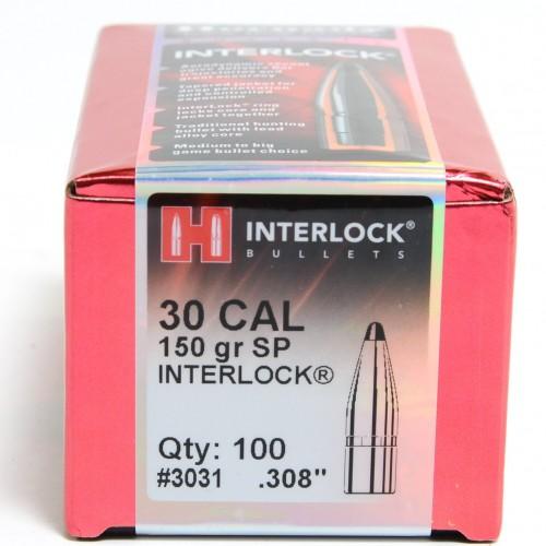 HORNADY - PALLE INTERLOCK CAL 30  308'' 150grs SP - 3031