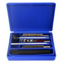 ADVANCE Kit di pulizia Cal.4,5 in Box on Asta in 2 pezzi per pistola, con 3 scovoli