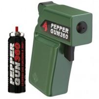 PEPPER GUN 360 Pistola Al Peperoncino con doppio alloggiamento - Colore Verde