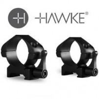 HAWKE - ATTACCO PRECISION STEEL 30mm H7mm MEDIUM A SGANCIO RAPIDO - 23016
