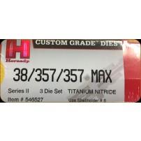 HORNADY - DIE SET Cal.38/357/357MAX TITANIUM NITRIDE - 546527