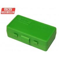 MTM - P50-9M BOX RIGIDO PORTACOLPI Cal.9mm 50 COLPI - BLU TRASPARENTE