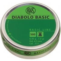 RWS - PALLINI DIABOLO BASIC Cal.4,5mm  0.45g 7.0gr - Conf. da 500 pz.