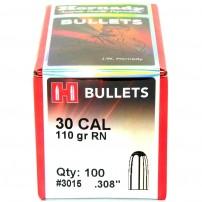 HORNADY PALLE CAL.30.308'' 110grs RN BULLETS - 3015