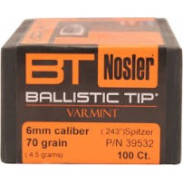 Nosler Ballistic Tip CAL.6mm.243'' 70gr SP - 39532