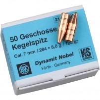 RWS palle CAL.7mm (.284) 123grs 8.0G KS - 14629