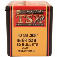BARNES - PALLE TSX Cal. 308 168gr TSX-BT - 30844-30351