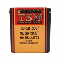 BARNES - PALLE TSX BT Cal.30.308'' 180gr - 30353 Conf. 50 pz.