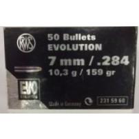 RWS Palle cal.7 mm 10.3 Gr. Evolution (.284) 159 Gr. 31596