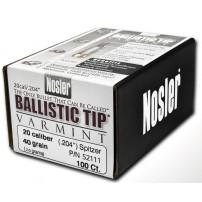 Nosler Ballistic Tip cal.20.204'' 40gr Spitzer - 52111