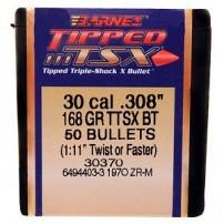 PALLE- BULLETS BARNES TSX -Tipped 308'' 168gr
