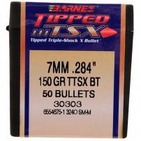 PALLE- BULLETS BARNES TSX-Tipped cal. 284'' 150gr BT