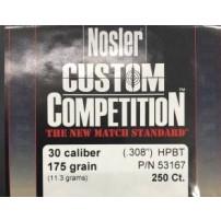 NOSLER - PALLE CUSTOM COMPETITION Cal.30.308'' 175gr HPBT match - 53167