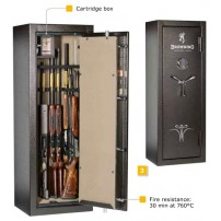 BROWNING SAFE DEFENDER Cassaforte per 12 armi con tesoretto - Armadio Blindato