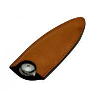 Fodero in pelle DEEJO color tabacco per coltello 37gr.