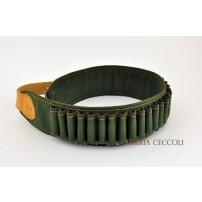 Cartucciera cal.28 30 celle verde tela/nylon