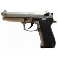 BRUNI-PISTOLA BERETTA 92 CAL.8mm CROMATA/NIKELATA A SALVE