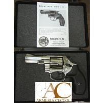 BRUNI-REVOLVER 4 pollici NIKEL CAL.380 9mm 5 COLPI SALVE