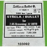 Palle Sellier&Bellot cal. 7.65 73 gr FMJ