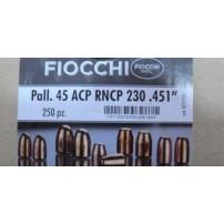 FIOCCHI - PALLE Cal.45ACP 230GR RNCP RAMATE
