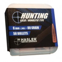 Hasler cal.6 mm Hunting (.243) 80 grain Monolitica
