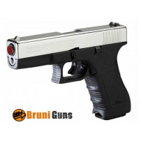 BRUNI-PISTOLA GAP GLOCK 17 CAL.9mm PAK NICKEL - SALVE