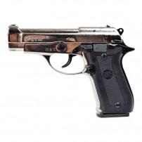 BRUNI Pistola a salve modello BERETTA 84 Cal.9mmP.A.K. NIKEL