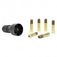 BRUNI - Kit completo di Speed loader e 6 bossoli da 1 pallino per Revolver Cal.4,5mm