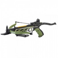 MAN KUNG Pistola Balestra ricurva ALLIGATOR TCS1G 80 Libbre VERDE cod.MK-TCS1G