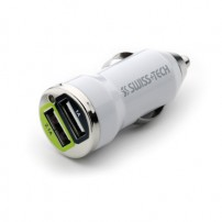 CARICATORE AUTO 12V USB DUAL  SWISS+TECH