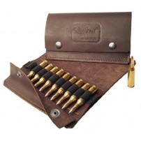 NAPIER GIBERNA PORTACOLPI IN PELLE - LEATHER BULLET WALLET - 10 CELLE