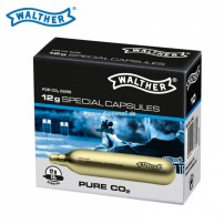 WALTHER by UMAREX Bombolette CO2 12gr SPECIAL CAPSULES 4.1682 - Conf.10 pezzi