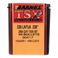 BARNES - PALLE TSX Cal.338 Lapua 285grs BT - 30417 Conf. da 50 pz.