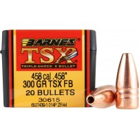 BARNES - PALLE TSX FB Cal.458'' 300grs 30615 - Conf. da 20 pz.