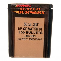 BARNES - PALLE MATCH BURNERS BT Cal.30.308'' 155grs - 30381 Conf. da 100 pezzi