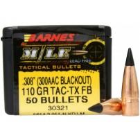 Barnes TAC-TX Bullet cal.300 AAC BLKOUT 110 grs (.308) FB M/LE