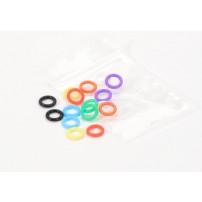Confezione anellini elastici DIA. 8 mm, contenente 16 pz 2 x colore