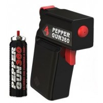 PEPPER GUN 360 Pistola Al Peperoncino con doppio alloggiamento - Colore Nero