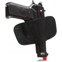 Fondina pistola Vega Holster in cuoio colore nero